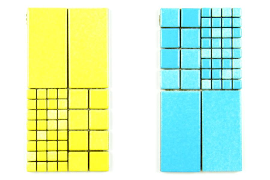 Mosaico giallo azzurro