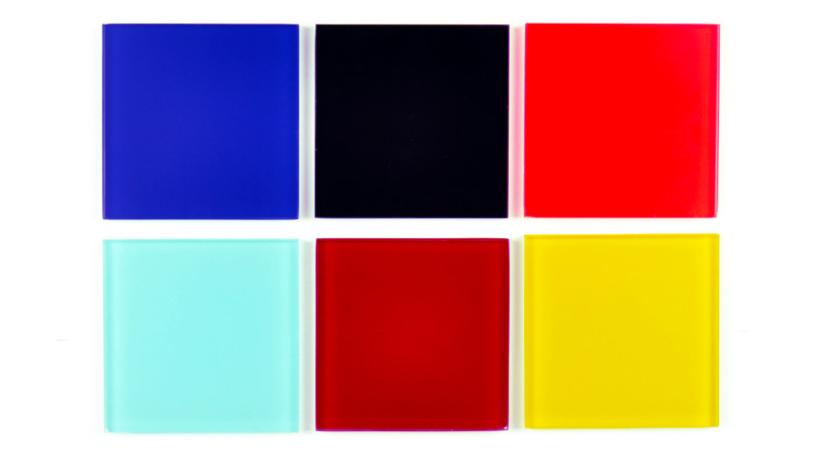 Vetro colorato opaco